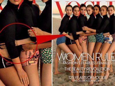 Vogue accusato di aver modificato il braccio di Gigi Hadid per far sembrare un'altra modella più magra