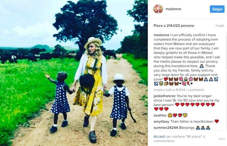 madonna presenta le sue nuove figlie