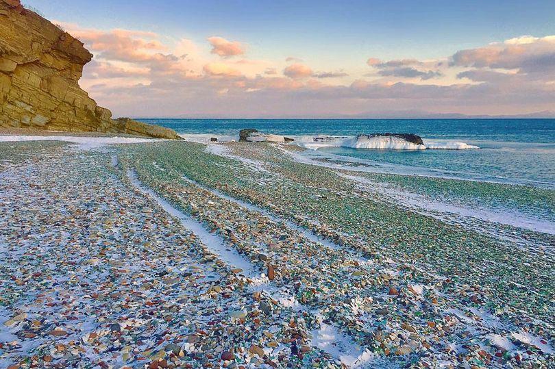 Ussuri Bay spiaggia di vetro