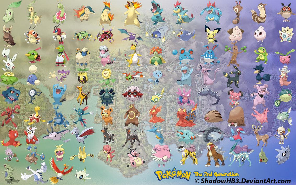 trovare pokémon di seconda generazione