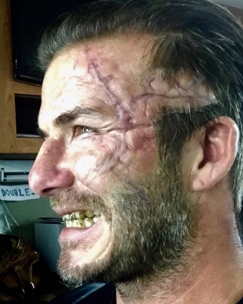 David Beckham irriconoscibile per un film