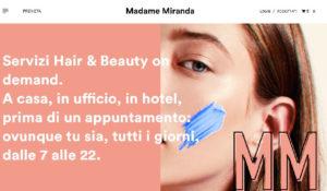 Madame Miranda, il primo servizio di beauty a domicilio