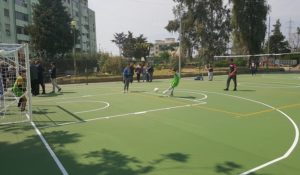 Al Parco Verde di Caivano si gioca su gomma riciclata