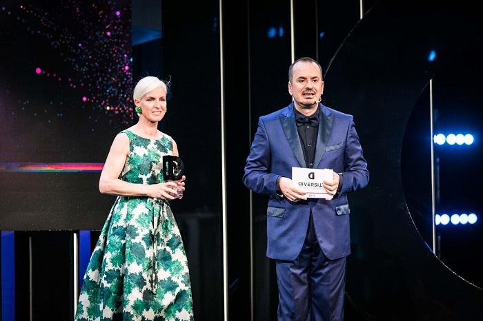 Carla Gozzi e Fabio Canino_Diversity Media Awards_ph credit Virginia Bettoja