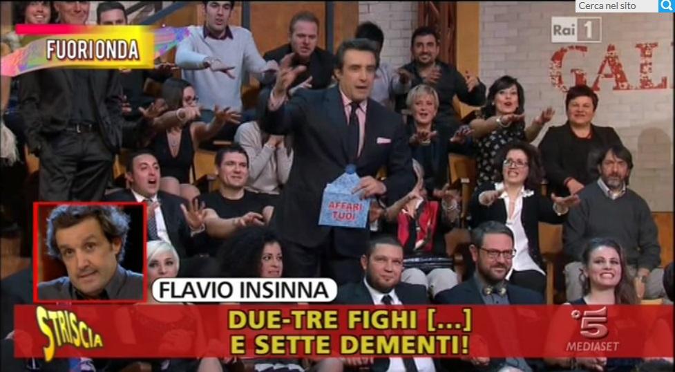 Flavio Insinna il video censurato con Staffelli