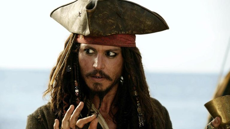 Johnny Depp sul set di Pirati dei Caraibi 5