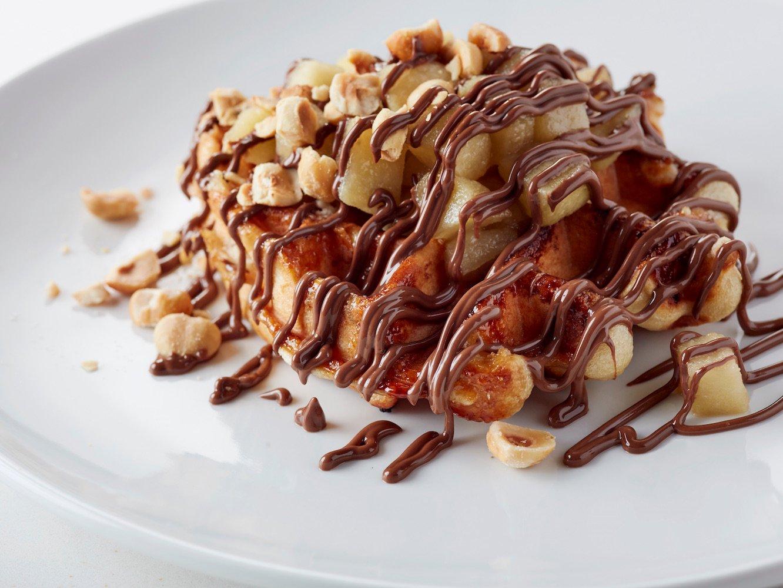 nutella cafewaffle apple