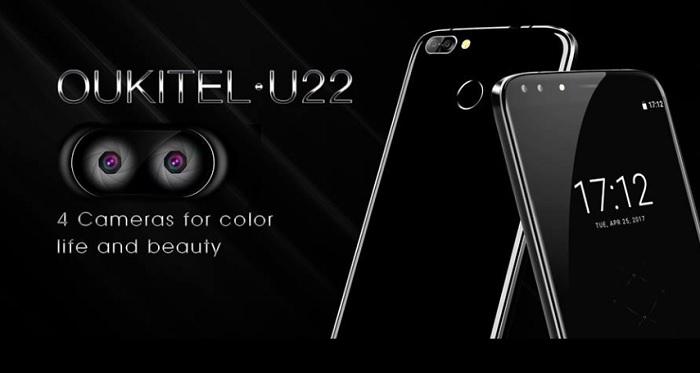 Oukitel U22 smartphone con 4 cam