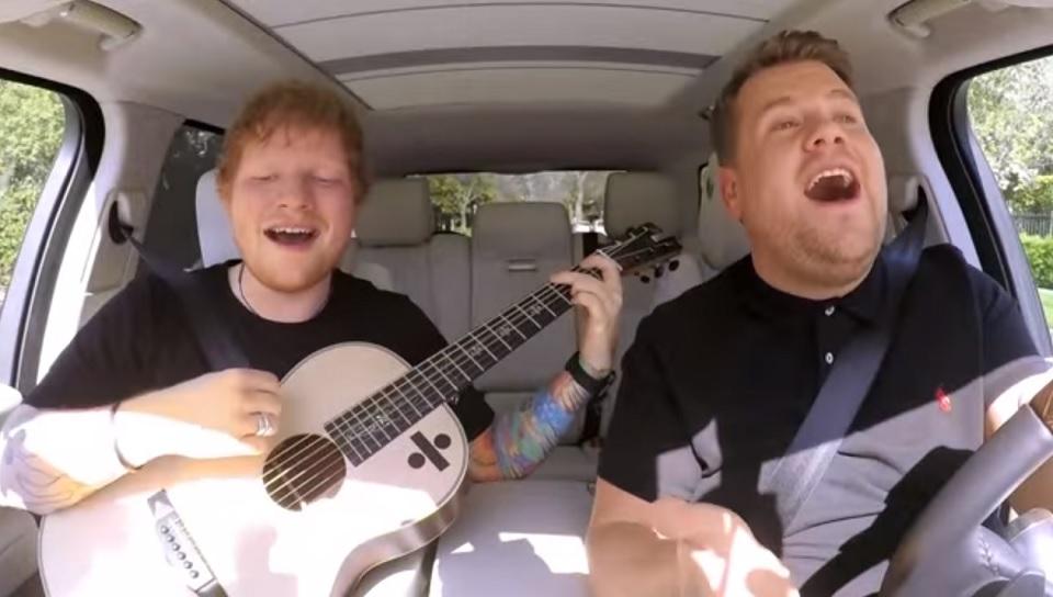 carpool karaoke di ed sheeran