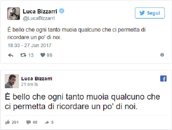 Luca Bizzarri suo tweet sulla morte di Limit
