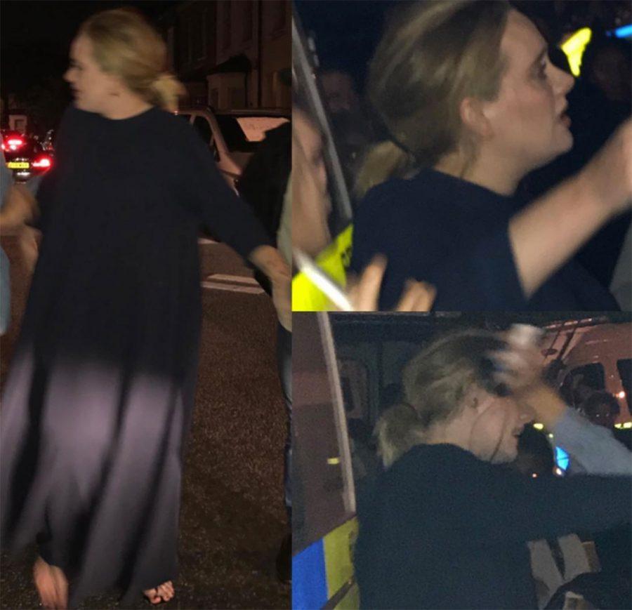 Adele fa visita agli sfollati dell'incendio alla Grenfell Tower di Londra