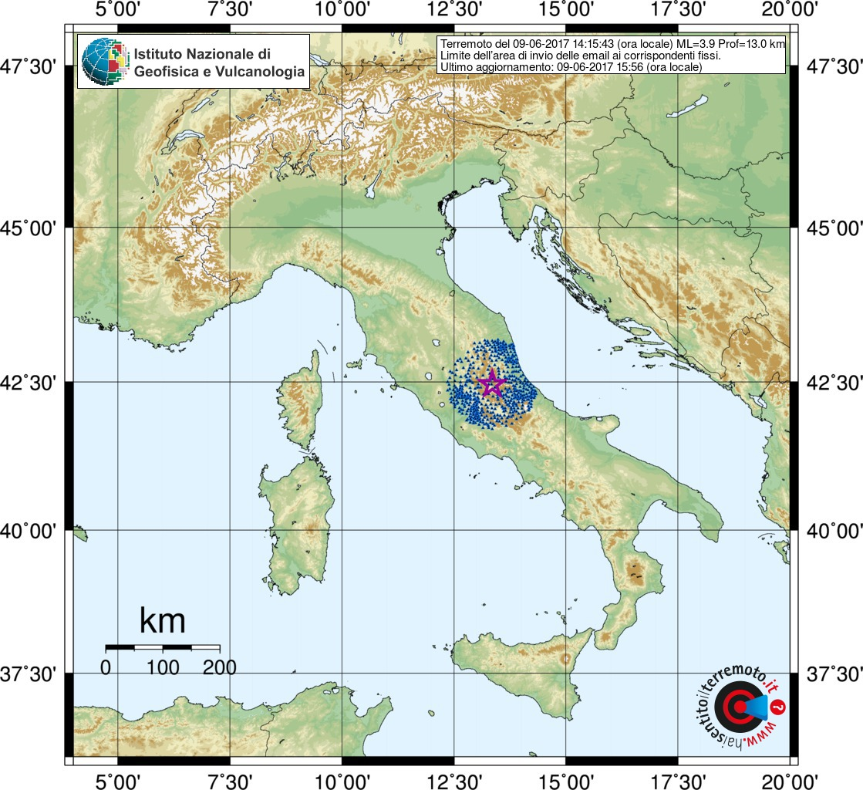 terremoto 9 giugno