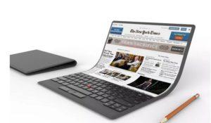Lenovo laptop del futuro sarà avvolgibile. Presentate le prime immagini
