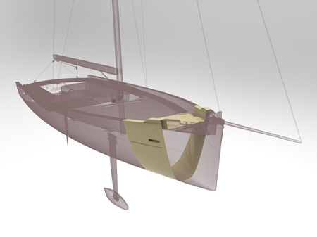 Yacht stampato in 3D