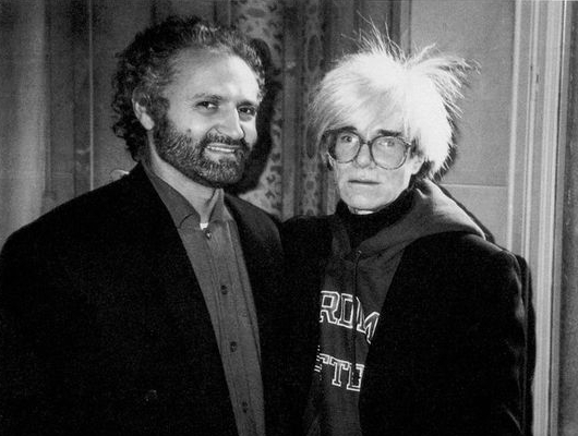 Gianni Versace and Andy Warhol LR