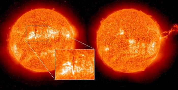 Attività del Sole più debole