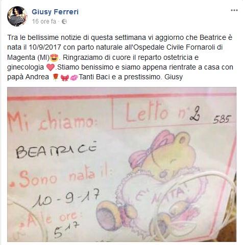 Giusy Ferreri mamma