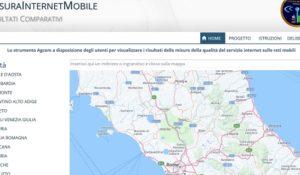 Il miglior operatore telefonico in città indicato da mappa AgCom