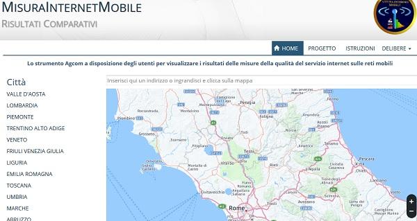 Operatore mobile, ecco la mappa Agcom di quelli più veloci