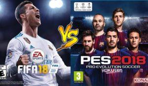 FIFA 18 vs PES 2018: caratteristiche a confronto