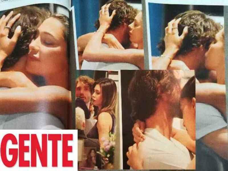 Stefano De Martino e Belen Rodriguez: abbracci e baci in prima pagina