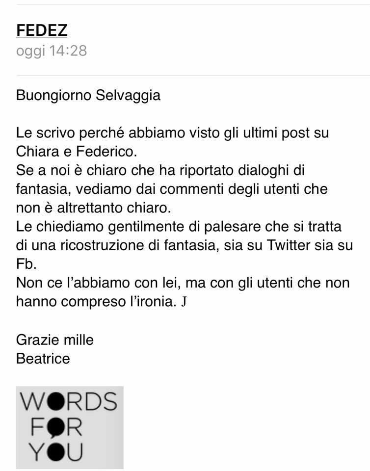 Selvaggia Lucarelli contro Chiara Ferragni e Fedez