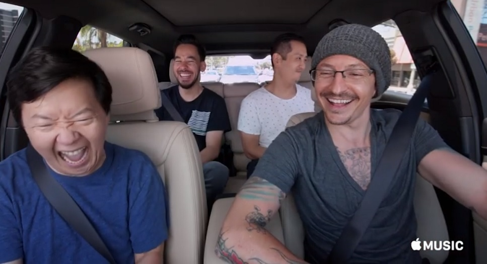 Carpool Karaoke dei Linkin Park con Chester Bennington