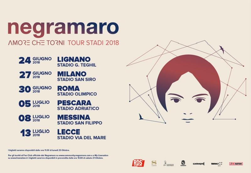 MUSICA - I Negramaro tornano in Sicilia: annunciato l'unico concerto isolano