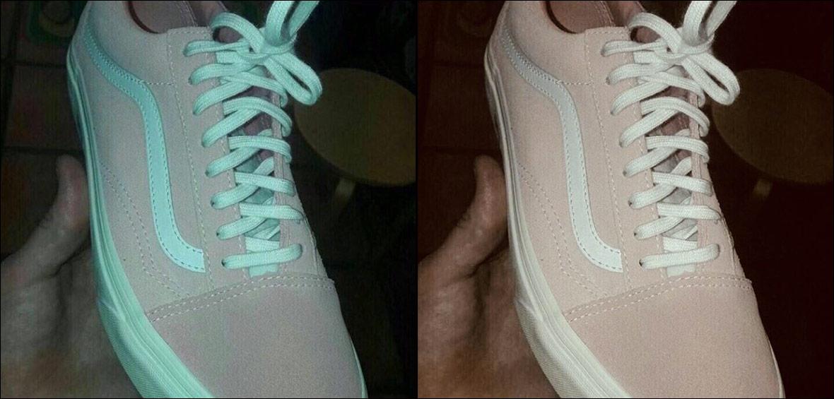 scarpa rosa o verde