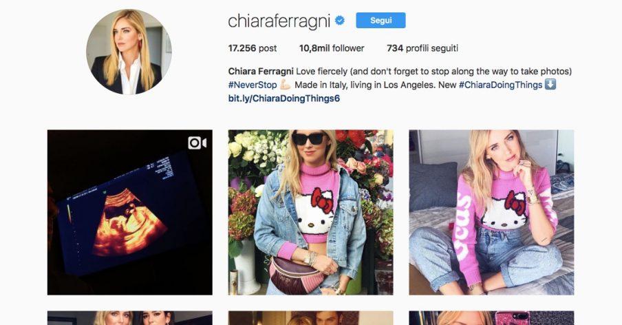 gravidanza social di Chiara Ferragni