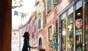 L'icona dell'illustrazione di moda Sophie Griotto colora Roma