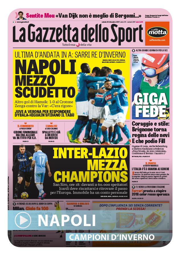 Film del Campionato - 2017-18 - C8 Campioni d Inverno (Cover Gazzetta Napoli)