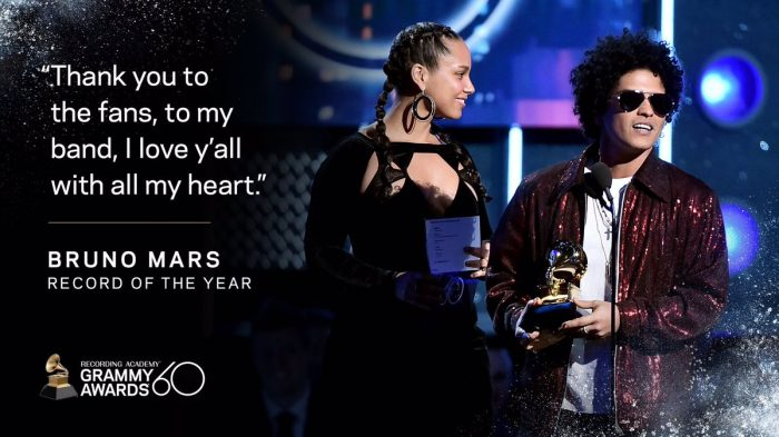 60esima edizione dei Grammy