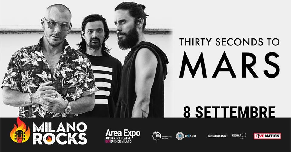 Thirthy Second to Mars live in Italia