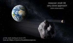 Arriva l'asteroide 2018 CB, sarà 5 volte più vicino della Luna: guarda la diretta