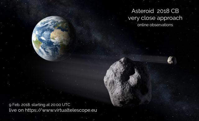 asteroide 2018 CB
