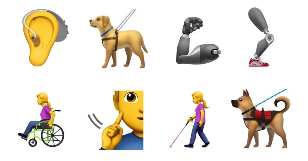 emoji sulla disabilità