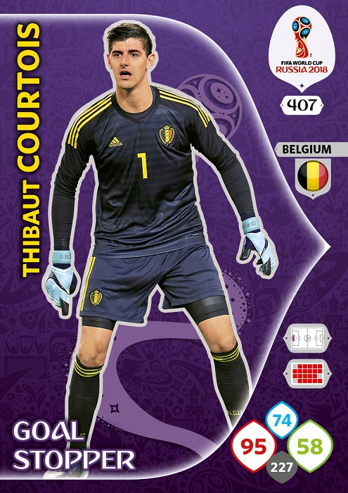 Courtois - Belgio WC2018 card GS