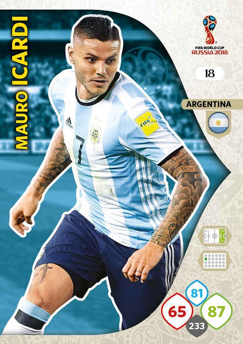 Icardi - Argentina WC2018 card