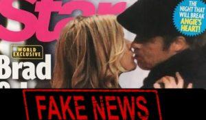 Fake News: il bacio tra Brad Pitt e Jennifer Aniston è un FOTOMONTAGGIO