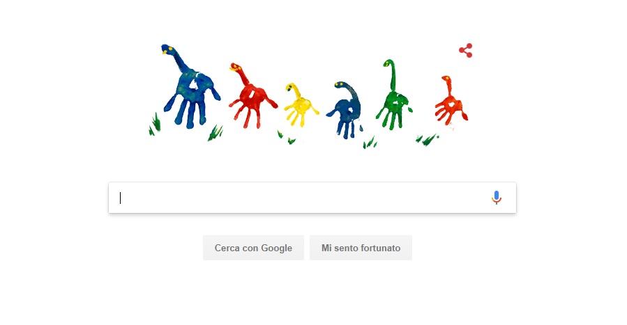 Google doodle per la festa del papà