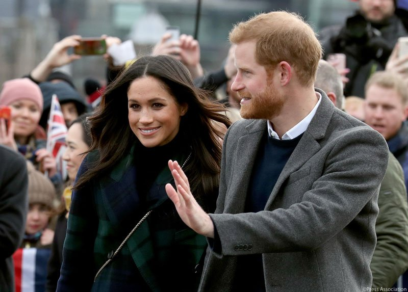 popolo al matrimonio di Harry e Meghan