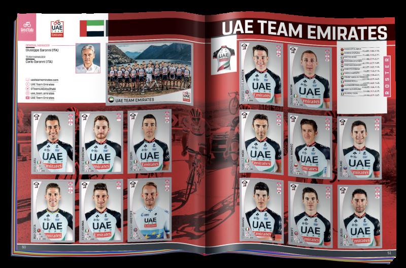 Panini-Giro-101---Doppia-pagina-UAE-Team-Emirates