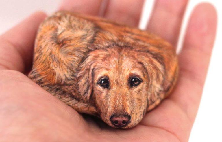 Le pietre prendono vita con Akie Nakata, l'artista che trasforma i sassi in animali