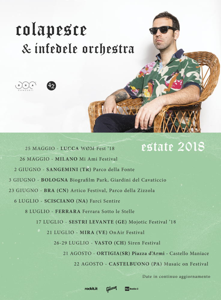 Colapesce torna in tour