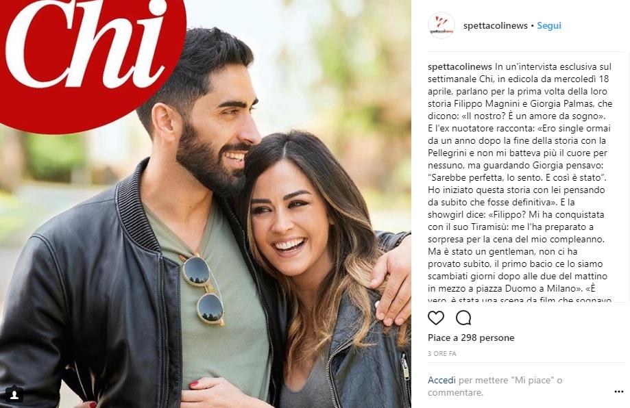 Filippo Magnini e Giorgia Palmas confermano il loro amore