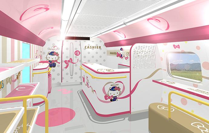 In giappone si viaggia sul treno di hello kitty - Si possono portare passeggeri con il foglio rosa ...