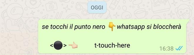 messaggio truffa su Whatsapp