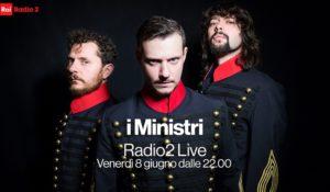 I Ministri in versione unplugged sul palco di Radio2 Live