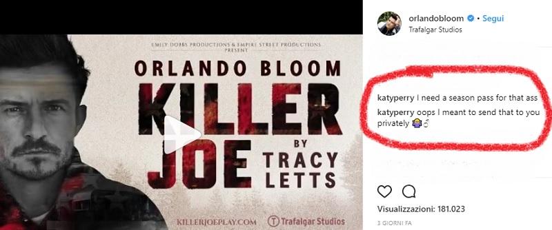 katy perry e orlando bloom instagram